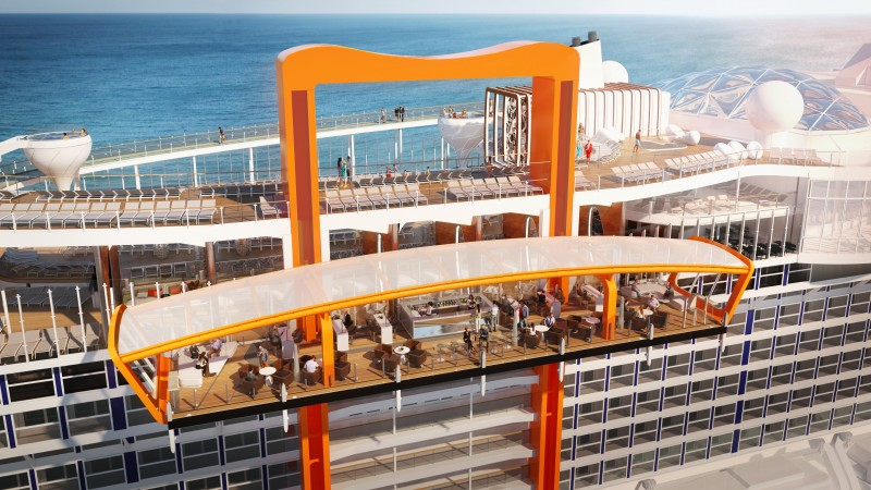 today celebrity cruises delivered a first look at the